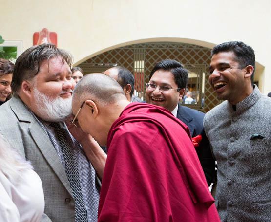 Dalailama ir barzda
